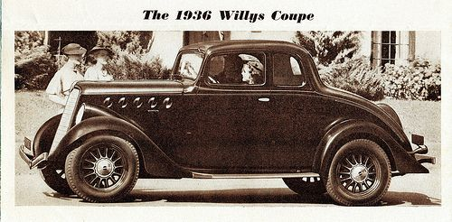 1936 Willys Coupe Willys Willys Jeep Willis Overland