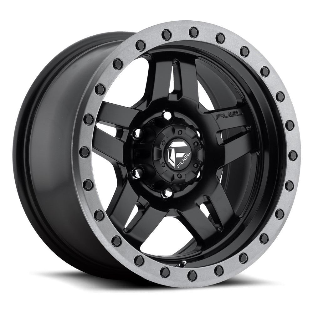 20 Fuel Anza D557 Black Anthracite Lip Wheel 20x9 5x150 20mm