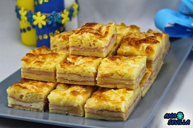Coca de jam n y queso ana sevilla cocina tradicional entrantes jam n y queso queso y jamon - Ana cocina facil ...