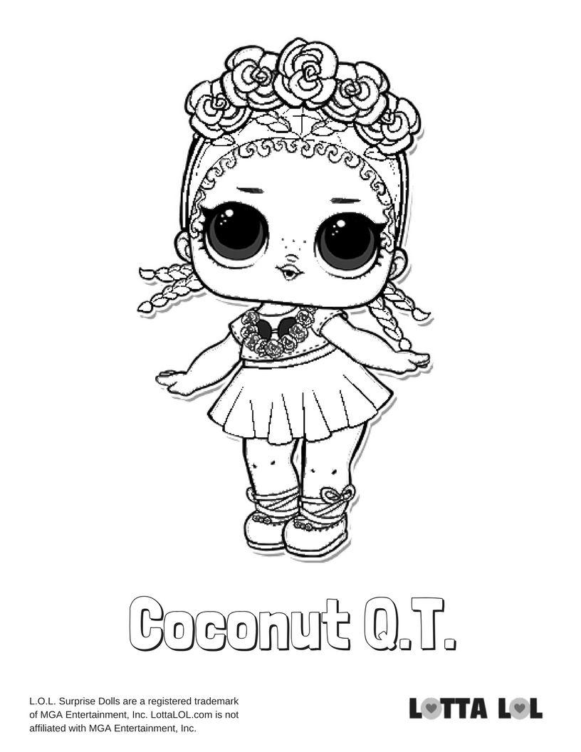 Coconut QT Coloring Page Lotta