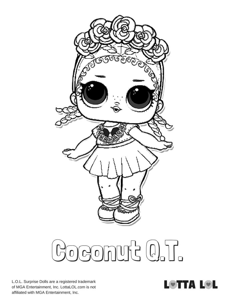 Coconut Qt Coloring Page Lotta Lol Unicorn Coloring Pages Lol