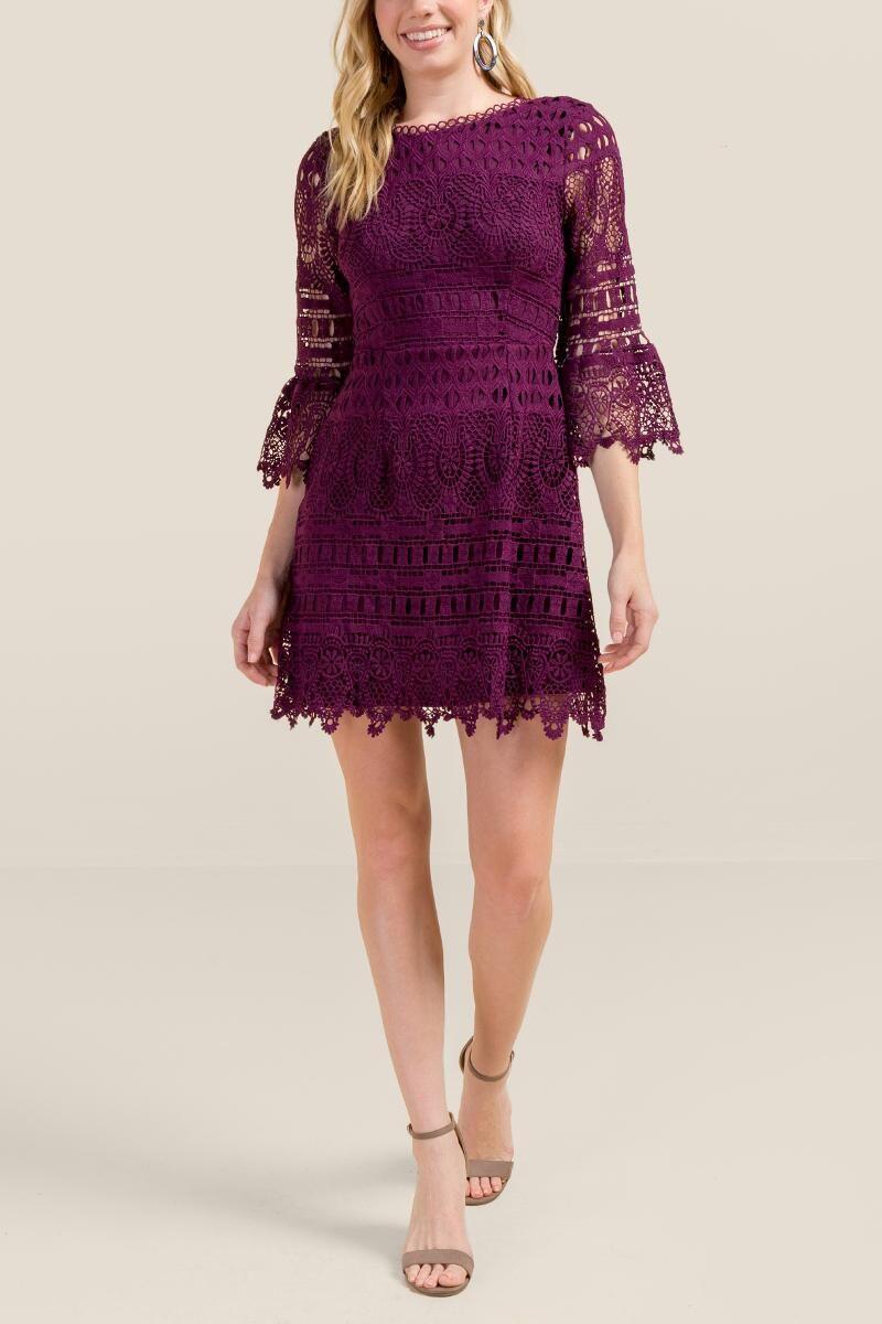 44e505f09407 Melody Bell Sleeve Dress- Purple 4