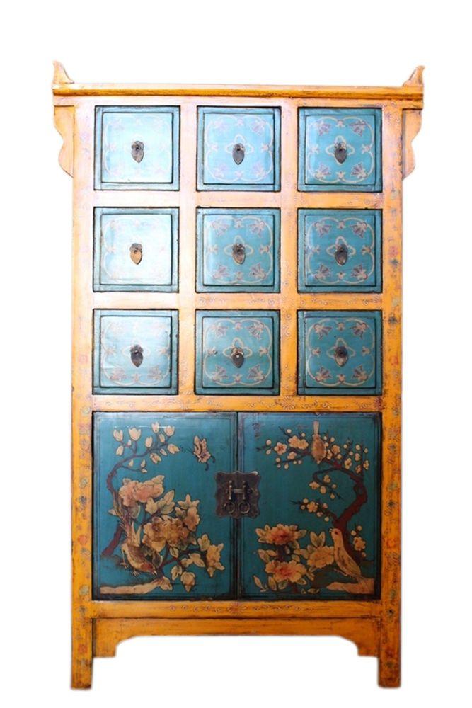 China Schubladen Apothekerschrank   Breite: 71 cm Höhe: 119 cm Tiefe: 34 cm  Preis: 589.00,- EUR inkl. 19% MwSt.