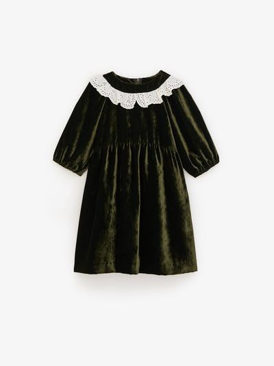 Lace Velvet Dress Velvet Lace Dress Velvet Dress Lace Trim Dress