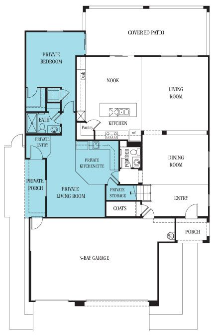 Independence next gen perfect floorplan for extended for Extended family house plans