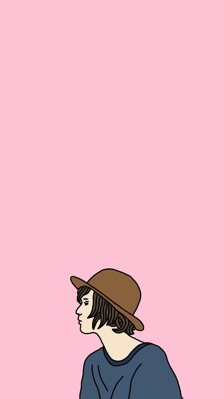 My Girl Wallpaper Phone Iphone Vector Cartoon Drawing Pink