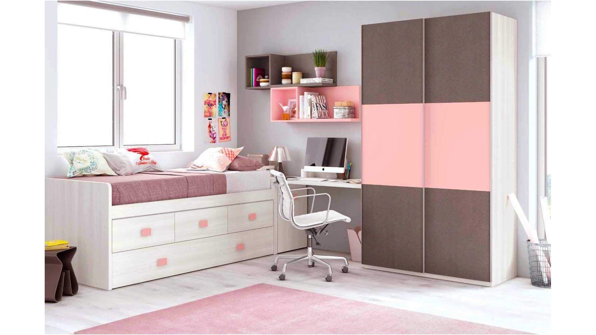 Lit Fille Avec Rangement Nice Chambre Fille Rose Avec Une Armoire Coulissante Glicerio Von Lit ...