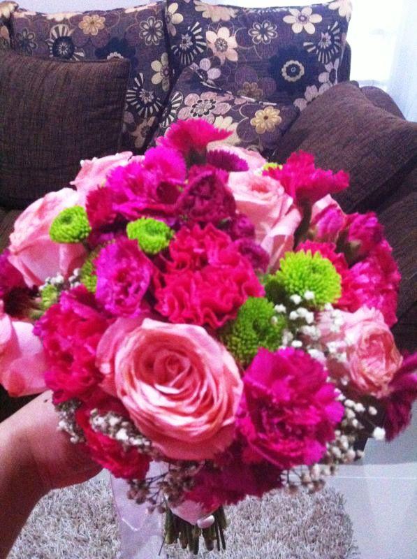Pink Green Fresh Flower Bouquets #wedding #bouquet #diy #handbouquet ...