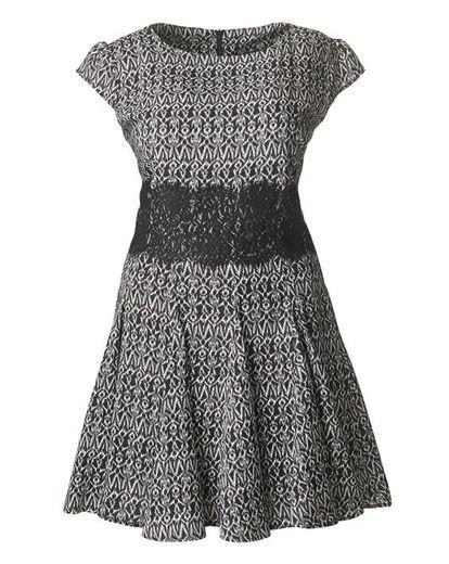 AX Paris Lace Waist Print Dress