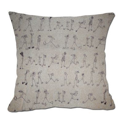 LSCovers Stick Figures Decorative Toss Throw Pillow