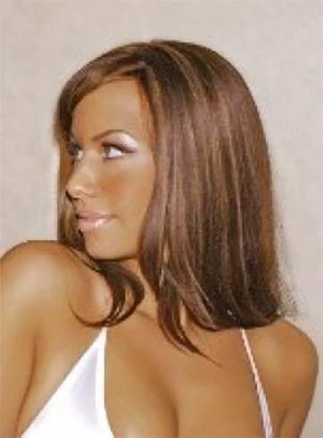 Major Makeover Amber Rose With Long Hair Cabelo Longo Penteado Rosa Cabelo Castanho Claro