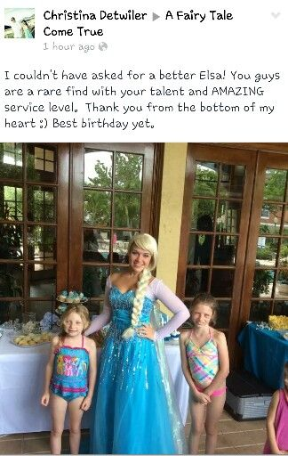 This is probably the best review we have had yet! Thank you so much :) www.afairytalecometrue.com 561-396-3644 princess party Boca Raton princess party Palm Beach princes party Wellington princess party Fort Lauderdale princess party Miami