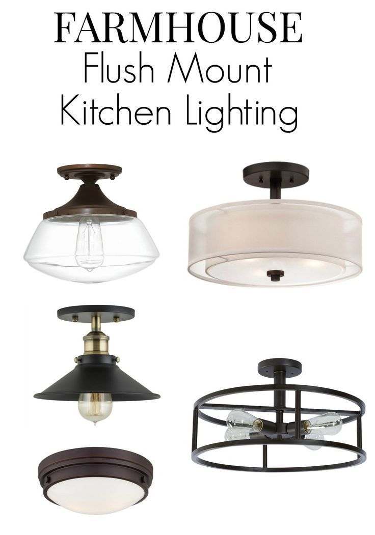 No Room For Pendant Lighting In Your Small Kitchen Here Are 8 Flush Mount Kitch Flush Mount Kitchen Lighting Kitchen Lighting Over Table Best Kitchen Lighting