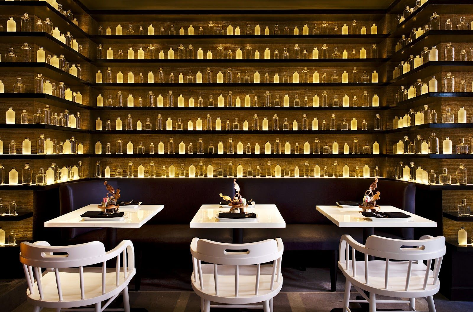 Restaurants Feature Wall Designs: Bottle Wall Feature Wall - Google Search