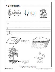 Patinig Handwriting Worksheets