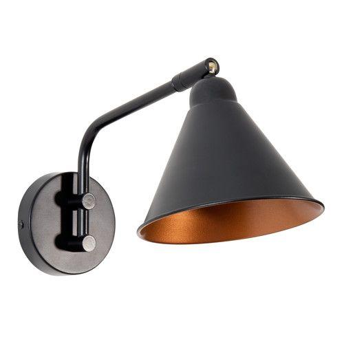 applique en m tal noire flamme maisons du monde luminaires m tal noir luminaire et m tal. Black Bedroom Furniture Sets. Home Design Ideas