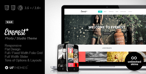 Everest | Responsive Portfolio WordPress Theme ...