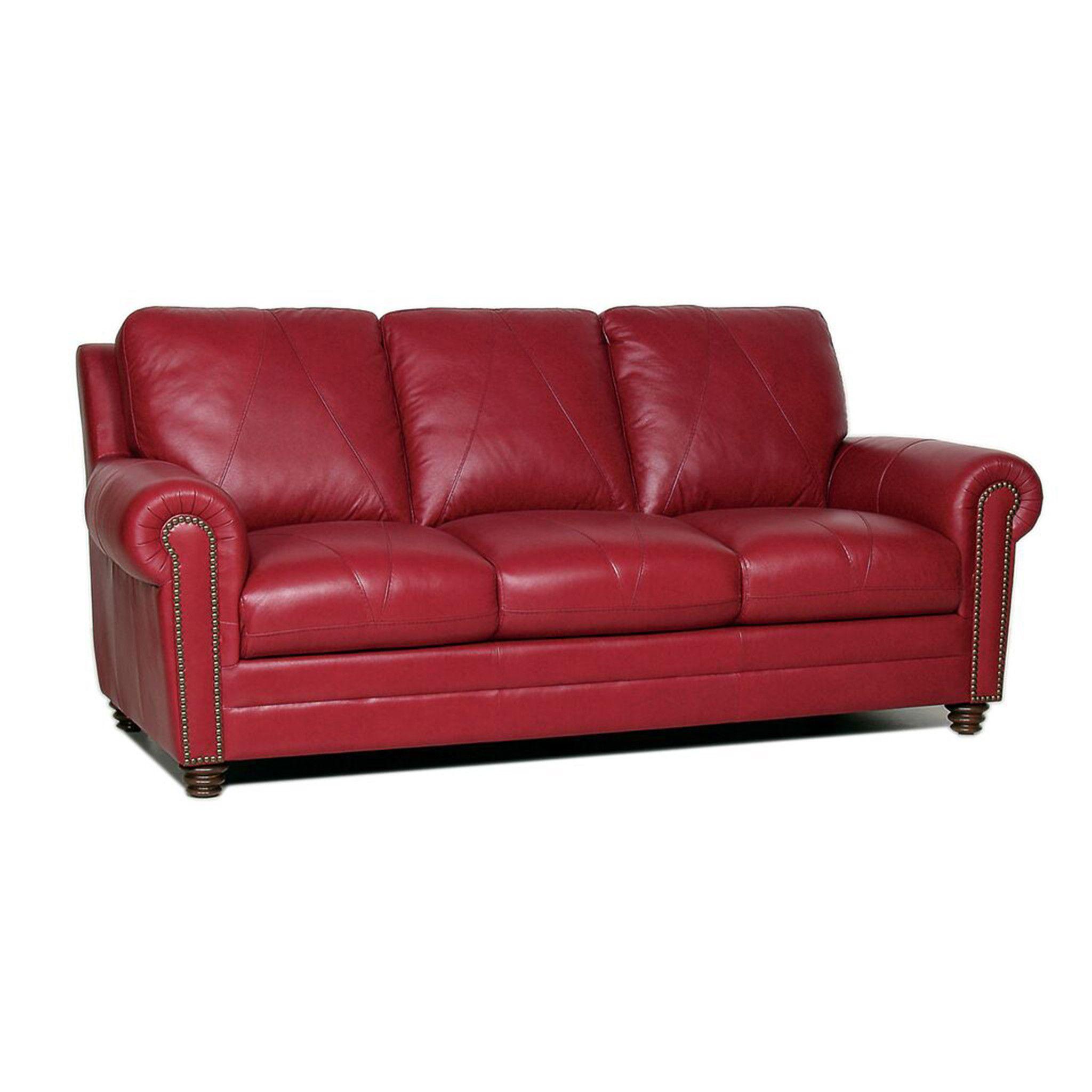Philadelphia Berkline Reclining Dark Red Leather Sofa Set $775
