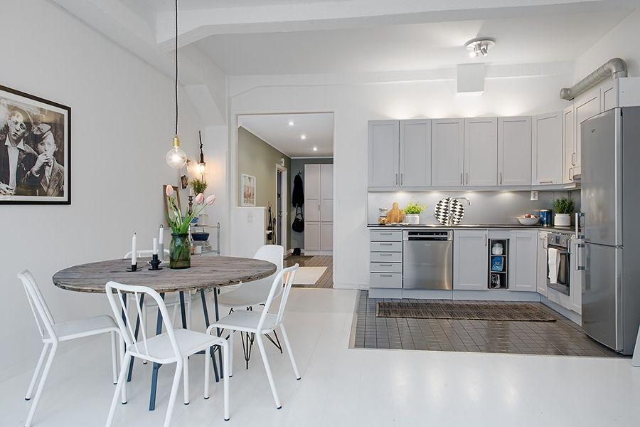 cocina en L en tonos blancos Casas decoracin Pinterest Tipos