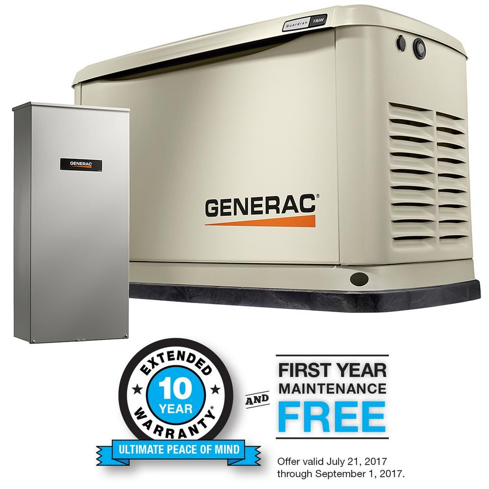 Generac 11,000Watt Air Cooled Standby Generator with 16