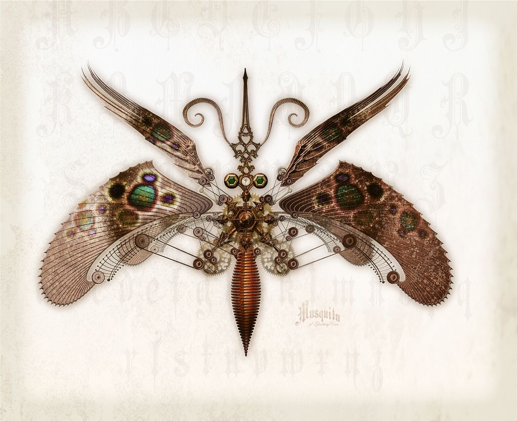 Mechanical Mosquito Im So In Love With Steampunk 1 Of 3 Television Remote Control Copper Circuit Board By Upcycledjewelry This Was Inspired The Hour Hand That Forms Proboscis