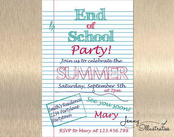 end of school party invitation summer party invitation school s