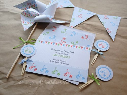Printable Birthday Stationery Paper ~ Printable birthday invitations: diy templates and party kits