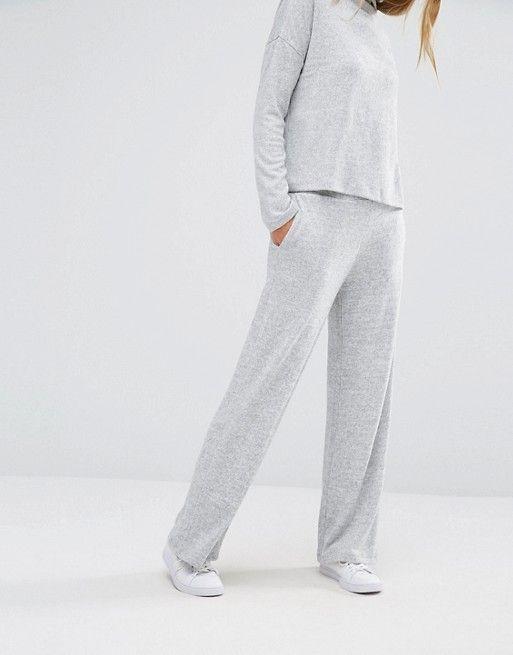 Vila | Pantalones de punto de pernera ancha de Vila