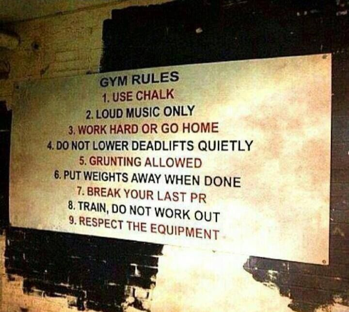 Great sign for home gym even gym rules fitness