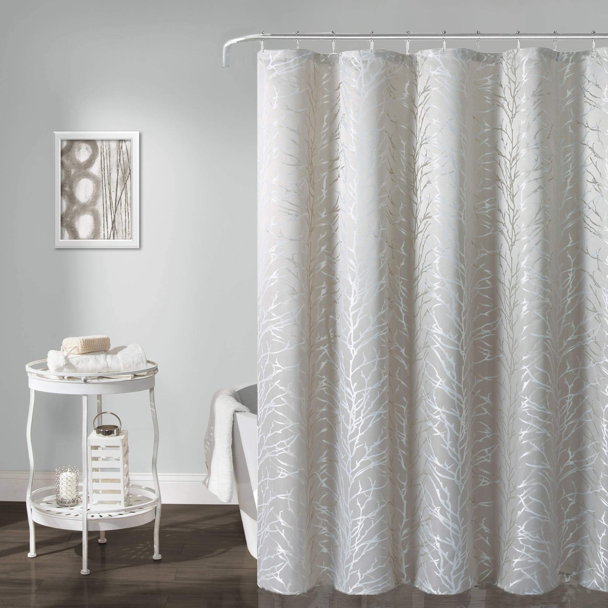 Aniello Tree Shower Curtain Tan With Beige Branch Pattern Water Resistant Stylish Amp Dec In 2020 Stylish