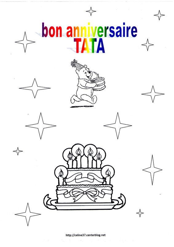 Joyeux Anniversaire Tata Inspirational Coloriage Bon Anniversaire Tata