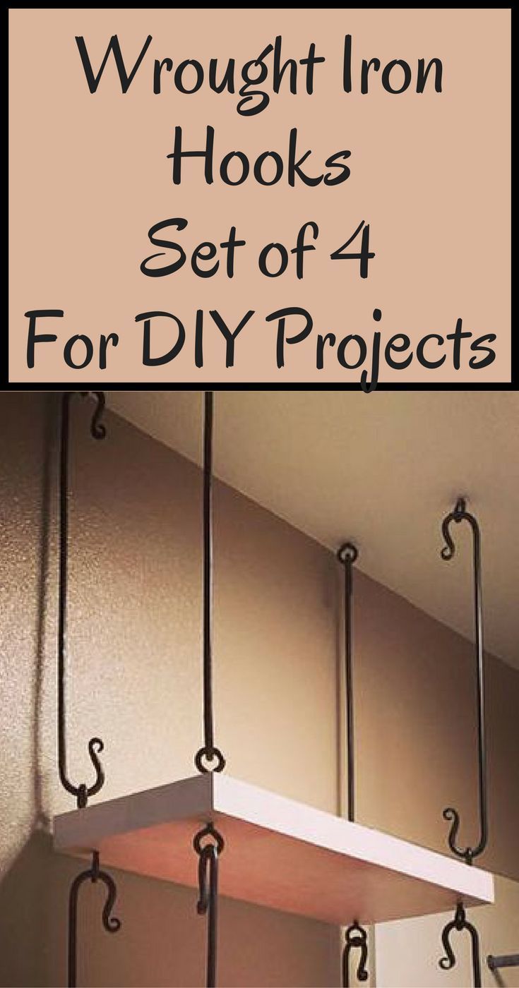 These Wrought Iron Hooks Would Be Great For Bathroom Shelves Or