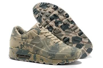 Nike Air Max 90 VT Camouflage Green Beige Men and Women's