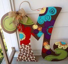 Wood Letter Door Hanger Leopard My Front Door And Screen Door
