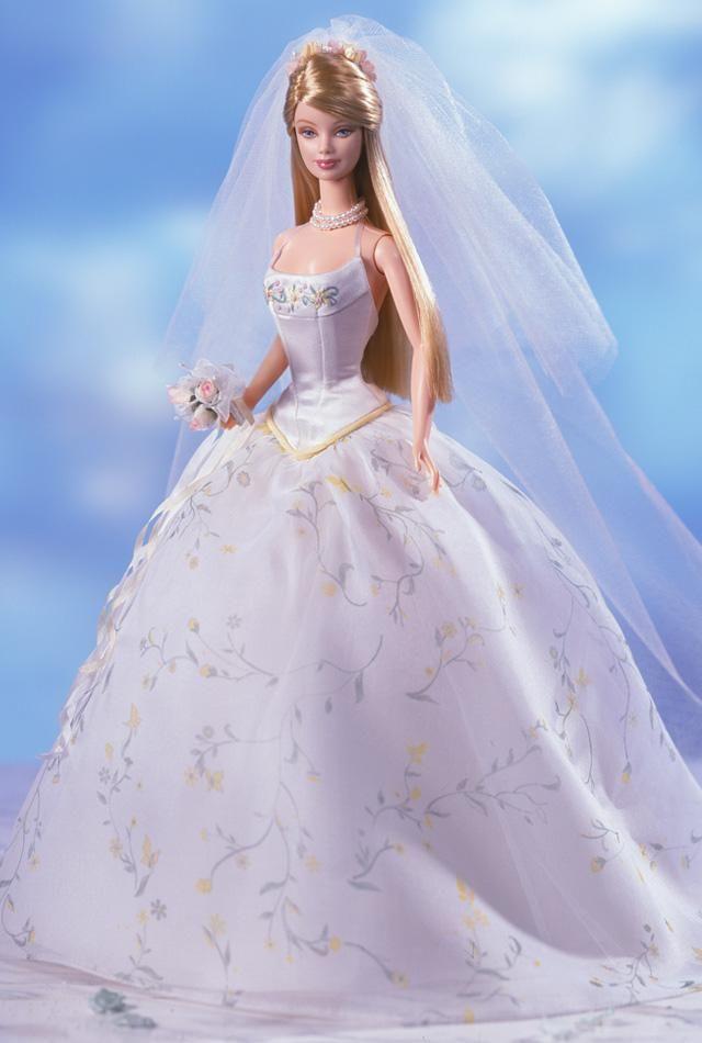 Barbie Cinderella Movie Wedding Day Doll/'s Bride Floral Gown Dress Rare