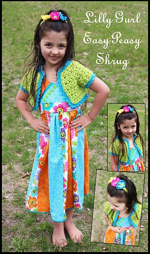 What a cute little shrug or bolero for girls. Best of all it\'s a ...