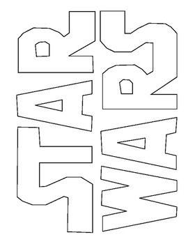 Star Wars Logo Coloring Star Wars Diy Star Wars Party Star