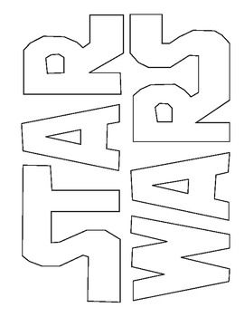 Star Wars Logo Coloring Star Wars Diy Star Wars Party Star