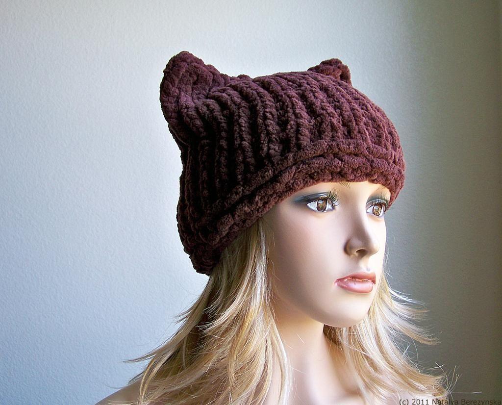 Knit Cat Ear Hat | Knitting, Knitted cat, Cat ears hat