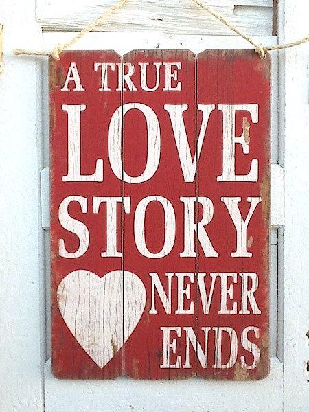 SALELove Sign True Love Vintage Style Wedding