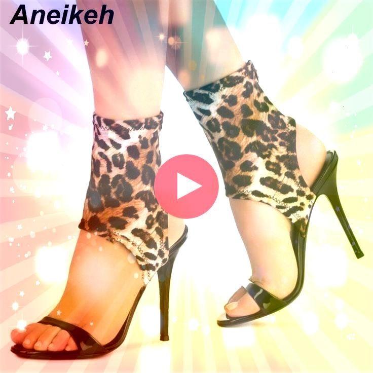 2019 NEW Novelty PU Summer Sandals Women Shoes Leopard Grain Round Toe Thin High Heel Aneikeh 2019 NEW Novelty PU Summer Sandals Women Shoes Leopard Grain Round Toe Thin...