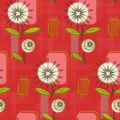 Colorful fabrics digitally printed by Spoonflower Mid
