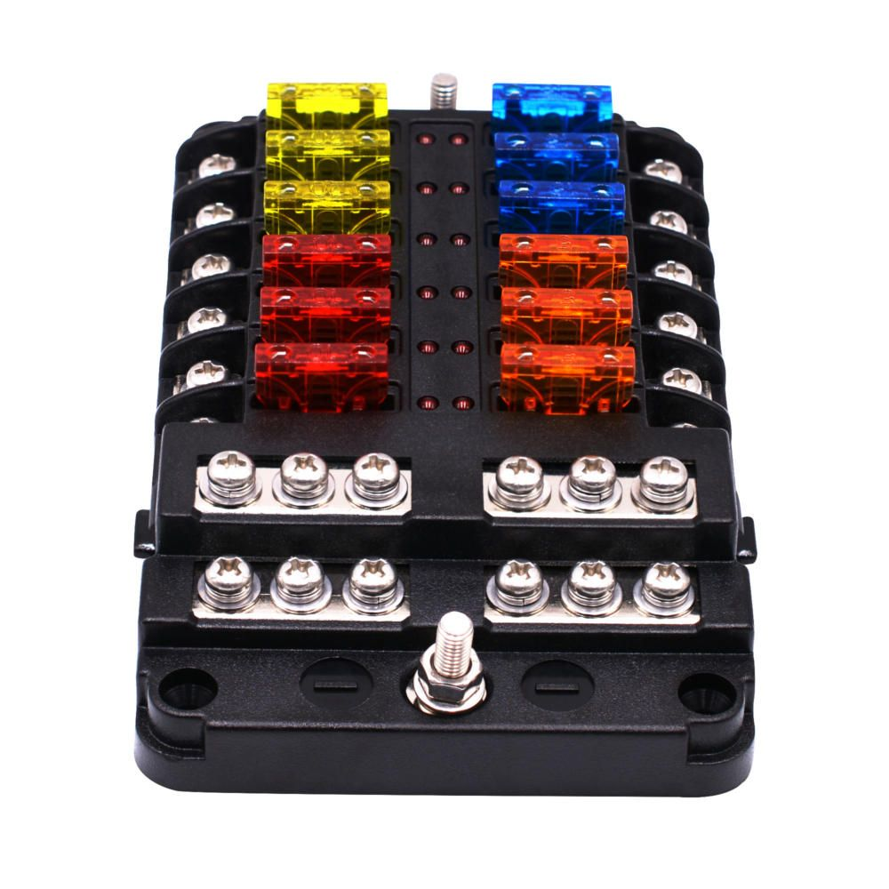 1 In 12 Out Way Car Fuse Box Power Plug Type Fuse Box Seat With Led Indicator Auto Parts From Automobiles Motorcycles On Banggood Com Car Fuses Led Indicator Fuse Box