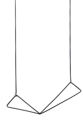 Vitsø Wingshalskæde - Halskæde i oxyderet sterling sølv. Tinga Tango Designbutik