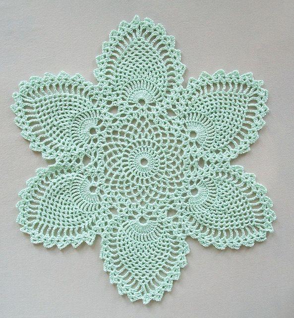Crochet Doily With Pineapple Motifs In Crochet Doilies Pattern