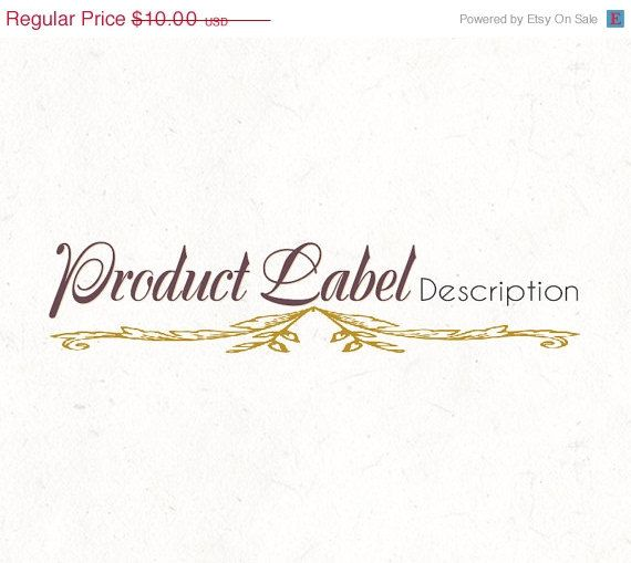 Logo design template Product Label Food Recipe by InstantLogos - product label template