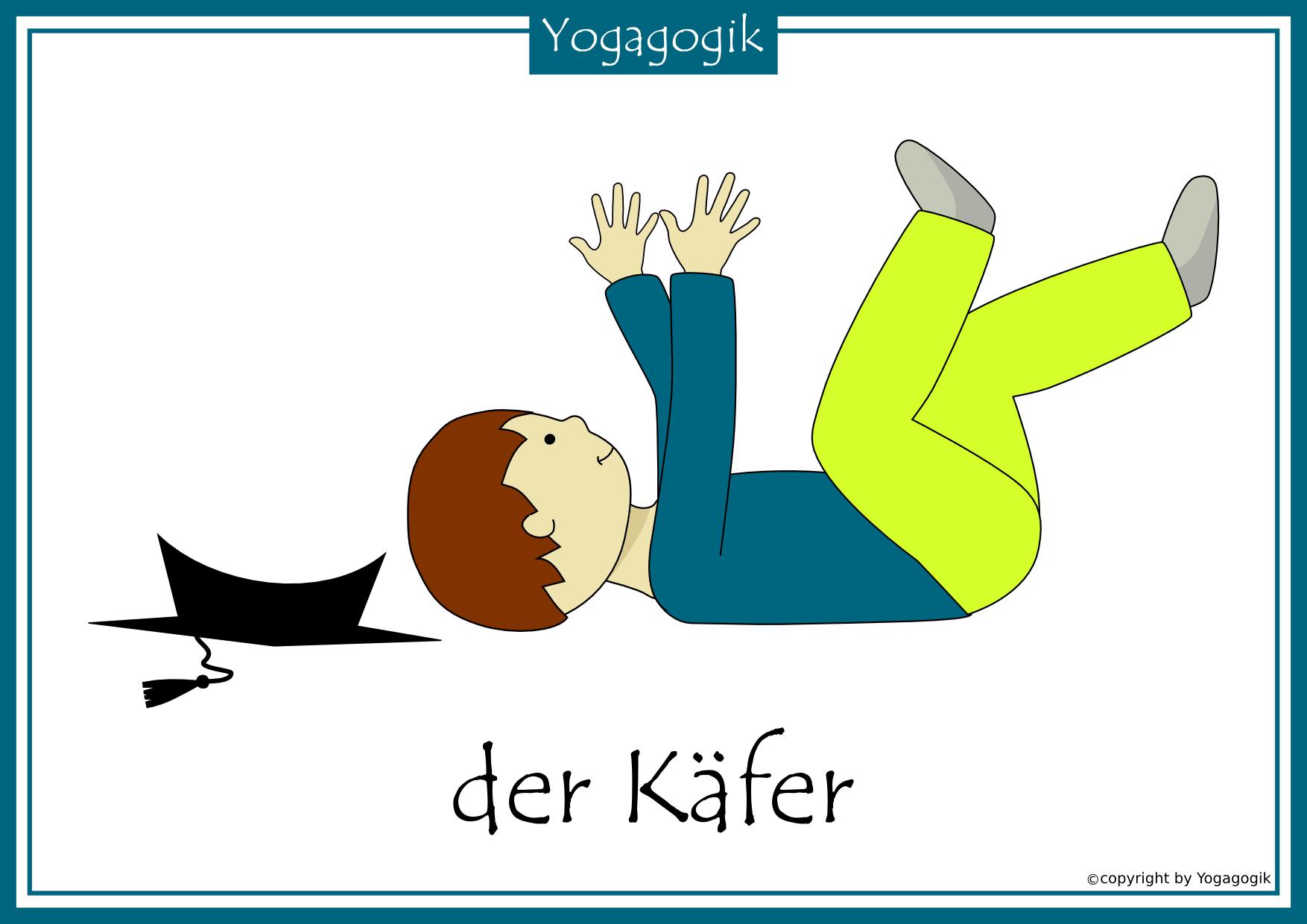 Kinderyoga Flashcards Kafer Yogaforbeginnersweightloss