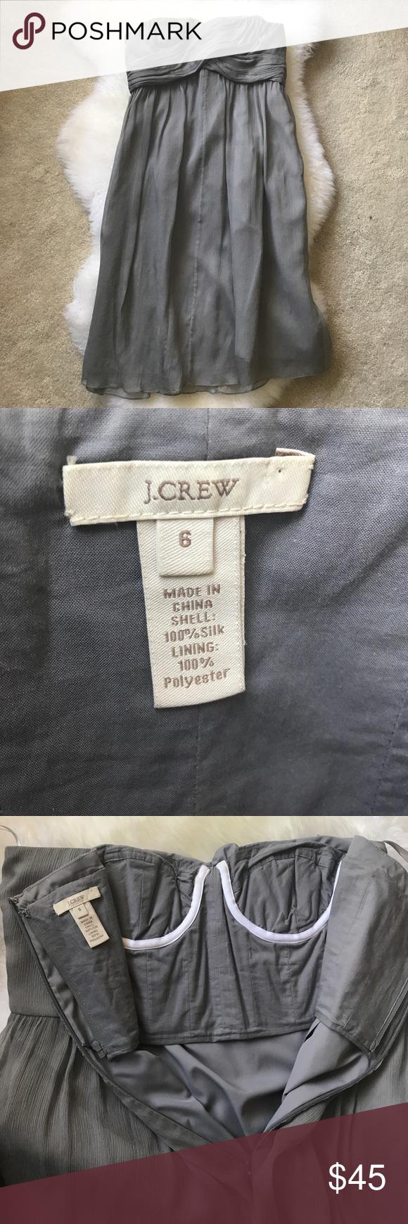 J crew taryn dress dusty shale color