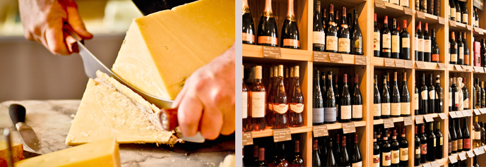The Cheese And Wine Company - perfect combination - we're happy!