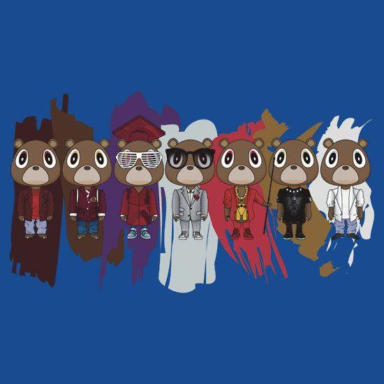 Dropout Bears By Degausser Hip Hop Art Kanye West Wallpaper Bear Art